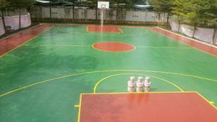 Sơn pu sân bóng rổ