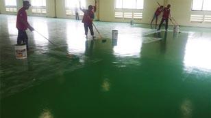 quy trình sơn epoxy cho nền sàn nhà xưởng