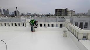 sơn polyurethane cho sân thượng sàn mái